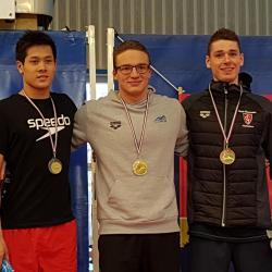 """Estéban POT: Médaille de Bronze [200m Papillon: 2 ' 07 """" 19 ]"""