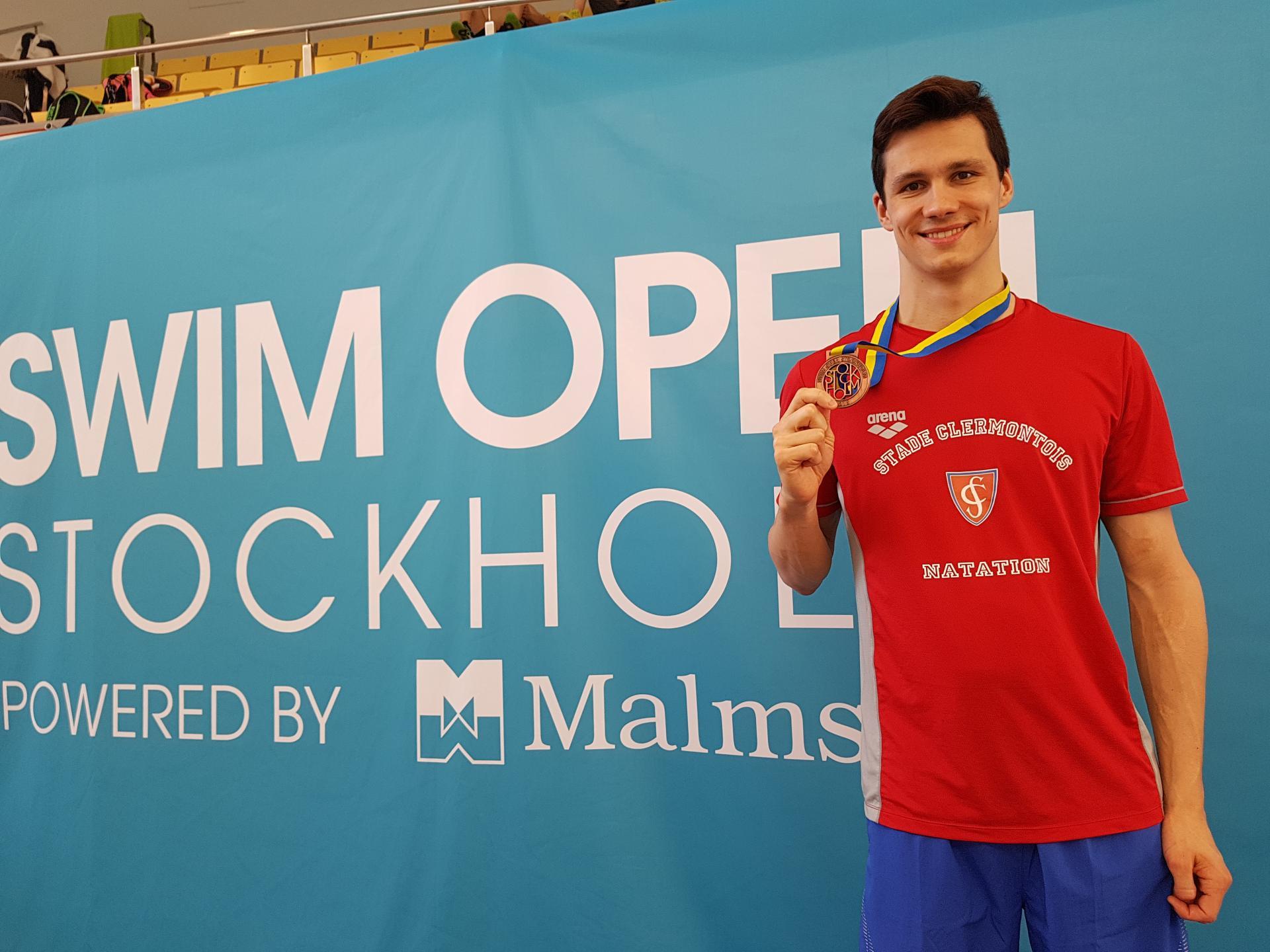 """Geoffroy MATHIEU (Médaille de Bronze 200 DOS 1'59""""80)"""