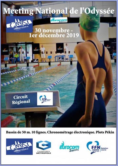 Meeting National de l'Odyssée - 50 m Du Samedi 30 Novembre au Dimanche 1er Décembre 2019