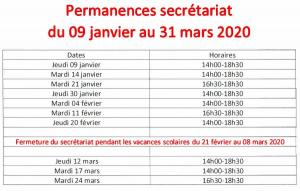 Capture horaires 2020 bis