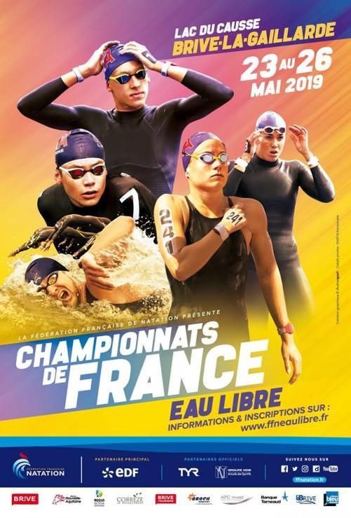 23 mai 2019 - Championnats de France Eau Libre à LISSAC-SUR-COUZE (19)