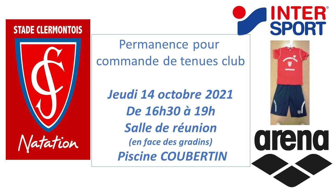 Flyer permanence commande tenue club 1