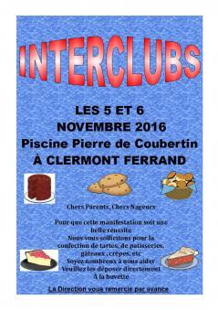 Interclubs 5 et 6 novembre