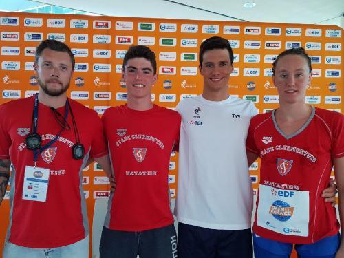 L'équipe du Stade à l'Open de France : Compétiteurs et l'entraîneur  également préparateur physique : Johan