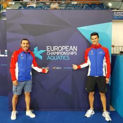 Bruno et Geoffroy au Championnat d'Europe à Glasgow