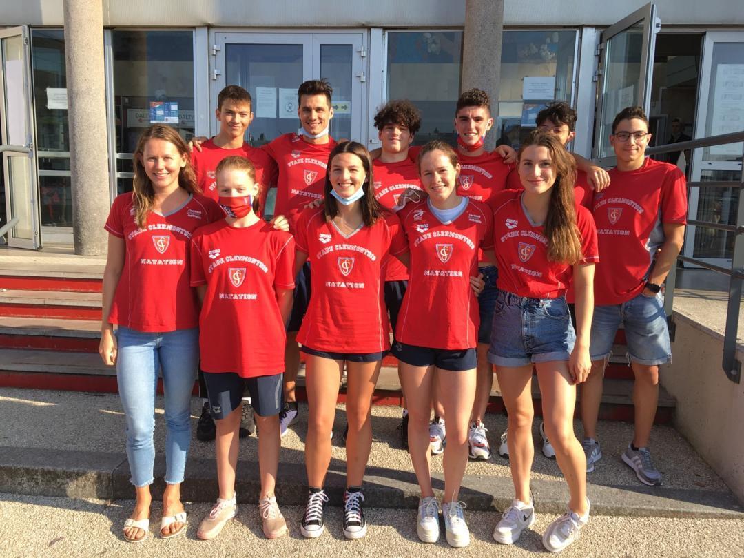 L'équipe du Stade Clermontois Natation